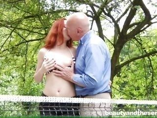 young eva gives into an old man