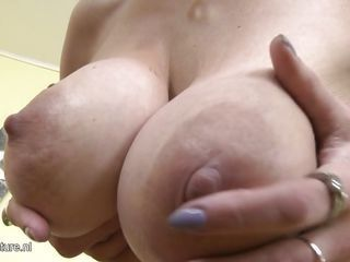 blonde milf showing her naked body and masturbating