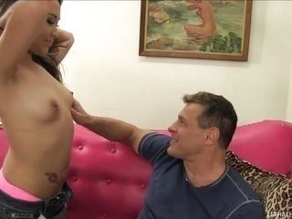 stepdaddy likes sucking on her nipples