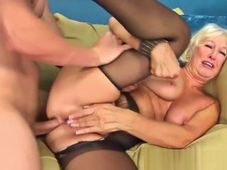 Mature Lady Gets Fucked By A Fresh Cock