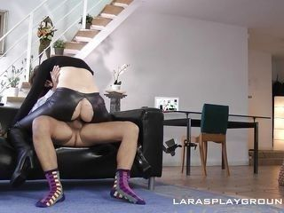 lara gets kinky with her own man today