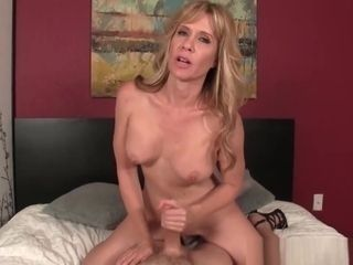 Bigtits Mommy Wanks My Hard Cock In Bed