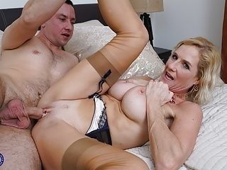 Granny Molly Maracas suck and fuck young boy